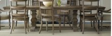 """Dining Room Sorella Rectangle Dining Table w/2-18"""" leaves"""