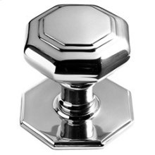 "Chrome Plate Octagonal centre door knob, 2 11/16"" diameter"