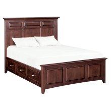 CAF McKenzie Queen Mantel Storage Bed