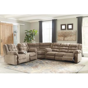 Ashley Furniture Workhorse - Cocoa 3 Piece Sectional