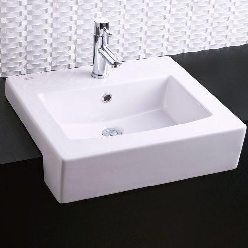 Boxe Semi-Countertop Bathroom Sink - White
