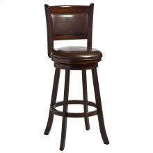 Dennery Swivel Counter Height Stool - Cherry/brown