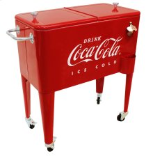"65QT COCA-COLA COOLER ""ICE COLD"" EMBOSSED"