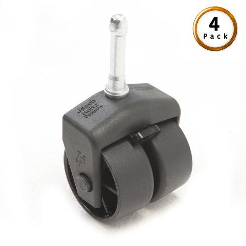 "2"" Black Locking Rug Roller with Socket Adapter, 4-Pack"