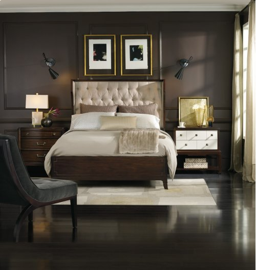 Bedroom Palisade Upholstered Shelter California King Bed - Taupe Fabric