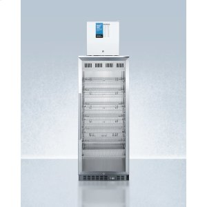 SummitCompact Manual Defrost Fs24lpro All-freezer Stacked With 11 CU.FT. Pharmaceutical Refrigerator Acr1151pro, Both With Factory-installed Probe Holes