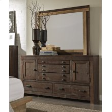 Drawer Dresser - Distressed Dark Pine Finish