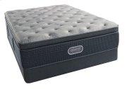 BeautyRest - Silver - Sedate Gray Luxury Firm Pillow Top - Queen 2 pc. Mattress Set Product Image