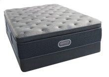 BeautyRest - Silver - Sedate Gray Luxury Firm Pillow Top - Queen 2 pc. Mattress Set