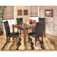 Lacey - Medium Brown 5 Piece Dining Room Set
