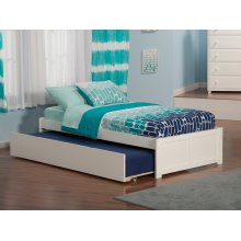 Concord Twin Flat Panel Foot Board with Urban Trundle White