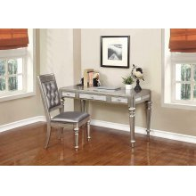 Bling Game Hollywood Glam Metallic Platinum Writing Desk