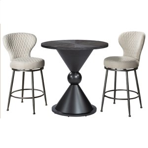 Hillsdale FurnitureMelange 3-piece Counter Height Bistro Set With Upholstered Swivel Stools