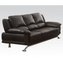 Black Bonded L. Match Sofa