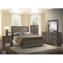 Nathan Queen Bedroom Set: Queen Bed, Nightstand, Dresser & Mirror