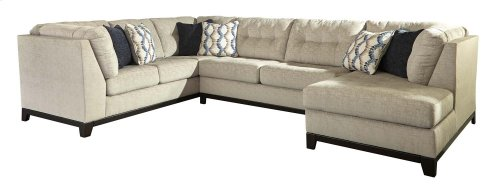 Beckendorf - Chalk 3 Piece Right Chaise, Left Sofa Sleeper Sectional