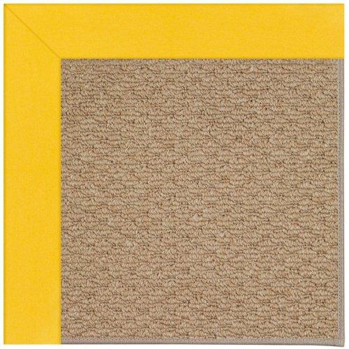 Creative Concepts-Raffia Canvas Sunflower Yellow Machine Tufted Rugs