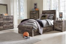 Derekson Twin Bedroom Group: Twin Bed, Nightstand Dresser & Mirror