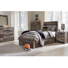 Derekson Twin Bedroom Set: Twin Bed, Nightstand Dresser & Mirror