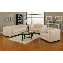 Alexis Transitional Almond Loveseat