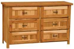 Simply Hickory Six Drawer Dresser - Traditional Hickory - Premium Line