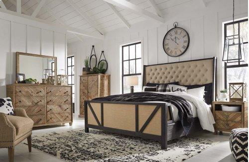 Grindleburg - Light Brown 2 Piece Bedroom Set