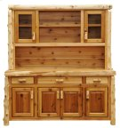 "Cedar 75"" Buffet & Hutch - with Shelving on Top Portion Product Image"