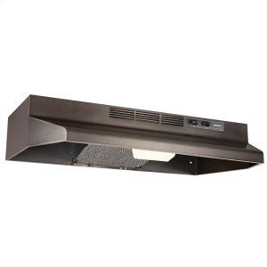 Broan30-Inch Convertible Under Cabinet Range Hood with light, Black Stainless Steel