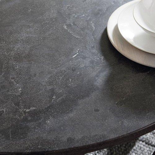 "Custom Dining 54"" Glass Table w/Atlas Tall"