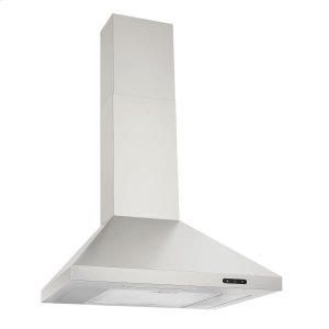 BroanBroan® 24-Inch Convertible Wall-Mount Chimney Range Hood, 400 CFM, Stainless Steel
