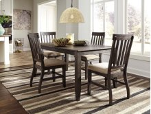 Dresbar - Grayish Brown 5 Piece Dining Room Set
