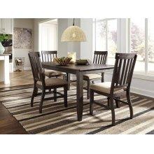 Dresbar - Grayish Brown 5 Piece Dining Room Set
