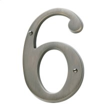 Antique Nickel House Number - 6