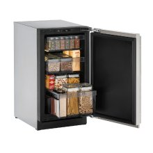 "Modular 3000 Series 18"" Solid Door Refrigerator With Stainless Solid Finish and Field Reversible Door Swing (115 Volts / 60 Hz)"