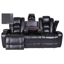 377 Galvatron BLACK SOFA w/ Power in Salem BLACK 2240/2245-98 (MFG # 377-52 - ITEM # 9837752)
