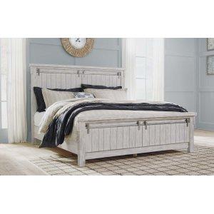 Ashley Furniture Brashland - White 3 Piece Bed Set (King)