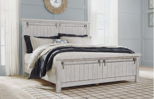 Brashland - White 3 Piece Bed Set (Cal King)