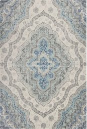 "CLEARANCE ITEM Reina 9502 Grey/blue Layla 5'3"" X7'7"""