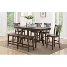 "78"" Tall Table w/ 12"" Leaf w/ 4 Chairs (shown bench optional) Product Image"