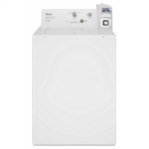 WhirlpoolCommercial Top-Load Washer, Coin Equipped White