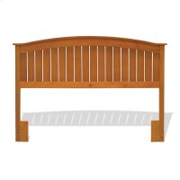 Finley Wooden Headboard Panel with Curved Top Rail Design, Maple Finish, Full / Queen Product Image