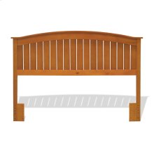 Finley Wooden Headboard Panel with Curved Top Rail Design, Maple Finish, Full / Queen