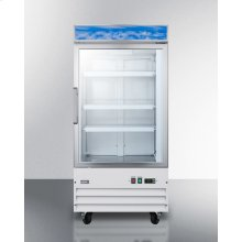 Upright Commercial Display Freezer With Digital Thermostat, Frost-free Operation, and Self-closing Glass Door; Replaces Scfu1210