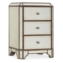 Bedroom Arabella Mirrored Three-Drawer Nightstand