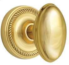 Nostalgic - Single Dummy Knob - Rope Rosette with Homestead Knob in Unlacquered Brass