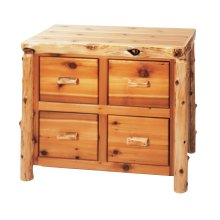 Cedar Four Drawer File Cabinet