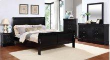 Louis Philippe Black Queen Sleigh Bed
