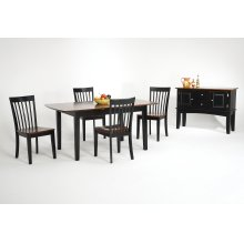Slatback Side Chair W 171/2 D 22 H 36 with Wood Seat