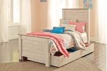 Willowton - Whitewash 5 Piece Bed Set (Twin)