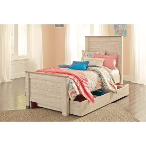 Ashley Furniture Willowton - Whitewash 5 Piece Bed Set (Twin)
